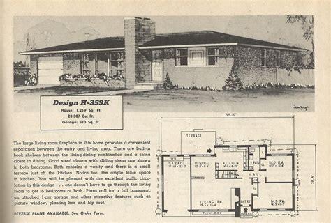 home plan search 1950s ranch plans search bungalow