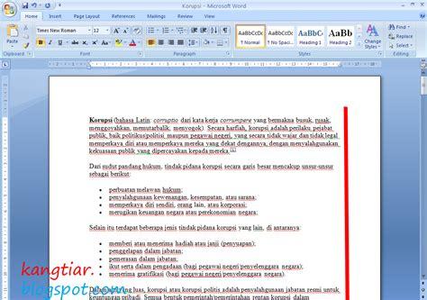 membuat halaman kanan kiri di word kang tiar cara membuat kalimat rata kanan kiri pada word 2007