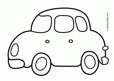 simple coloring pages for toddlers free simple car transportation coloring pages for kids