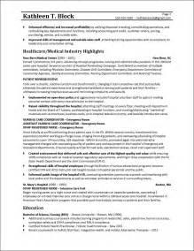 2 page resume sles management resume sle healthcare industry