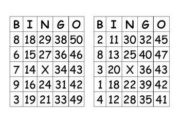 printable number bingo cards 1 50 pre made bingo cards numbers 1 50 by madame et monsieur