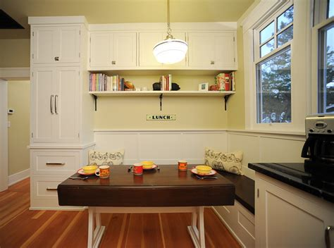 Seating area with drop leaf table   Traditional   Kitchen