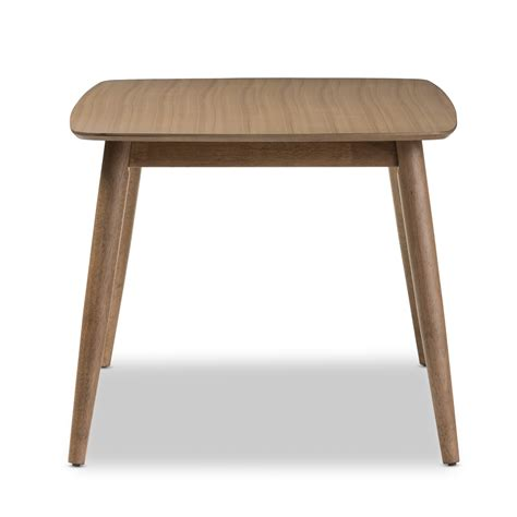light brown dining table baxton studio edna mid century modern quot oak quot light