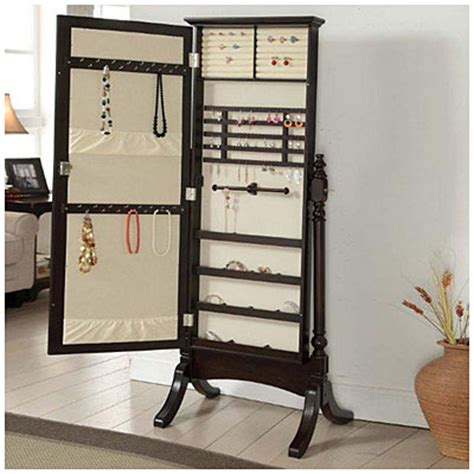 standing mirrored jewelry armoire jewelry armoire cheval standing mirror big lots