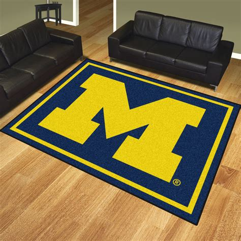 Area Rugs Michigan Of Michigan Wolverines Area Rug 8 X 10