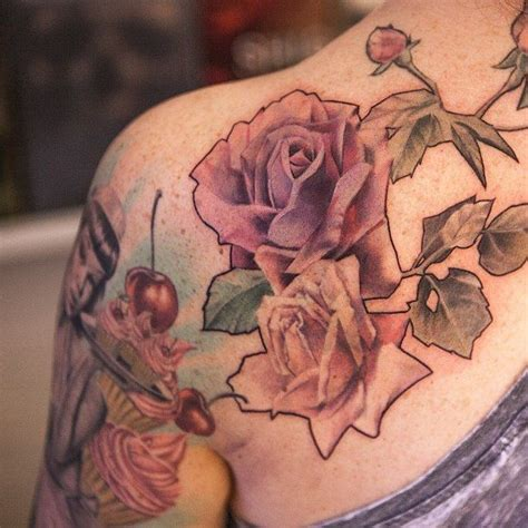 delicate rose tattoo best 25 shoulder tattoos ideas on 90 in