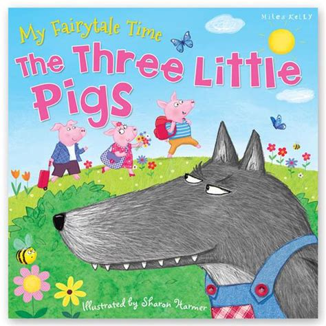 three pigs story book with pictures tales illustrated classic fairytales for