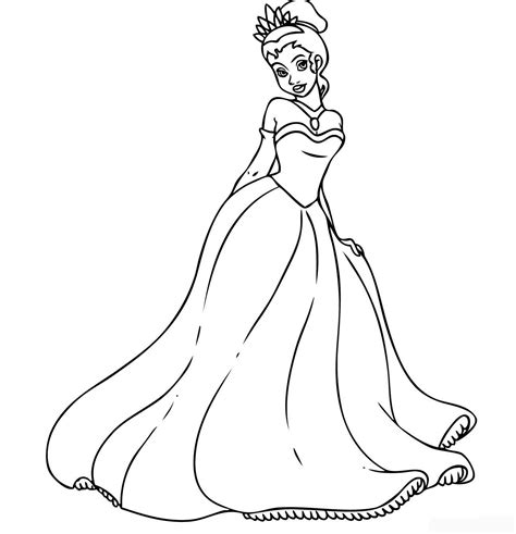 Disney Princess Tiana Coloring Pages To Girls Coloring Pages Princess
