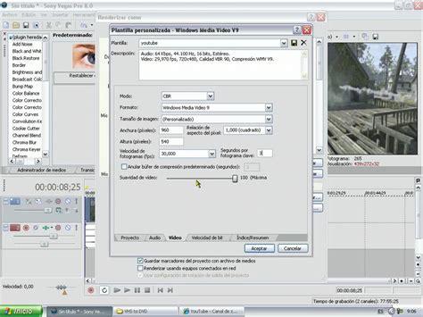 tutorial sony vegas pro 8 pdf tutorial renderizar sony vegas pro 8 youtube