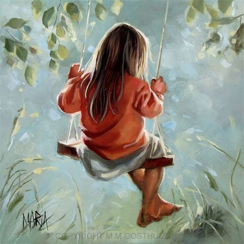 girl on a swing painting girl on a swing oil paintings pinterest swings