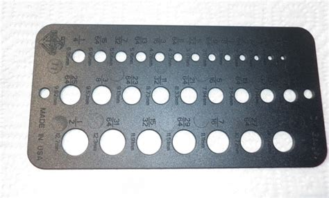 free drill bit gauge guide template home improvement