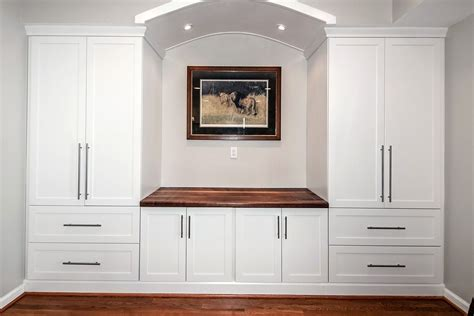 built in wall unit with desk and tv custom built in counter top wall unit by design by jeff