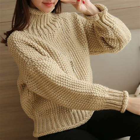 High Neck Cable Knit Sweater wholesale oversize high neck cable knit sweater ck112215