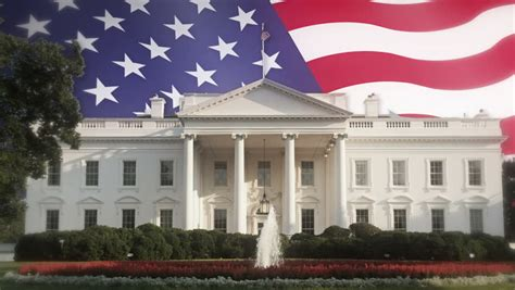 white house flag us white house and american flag stock footage video 4688273 shutterstock