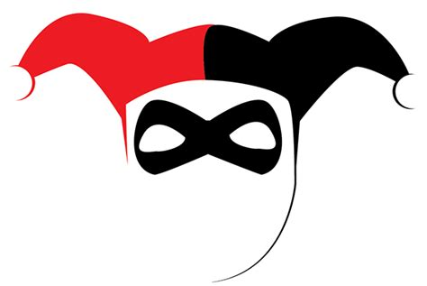 harley quinn mask template masks clipart harley quinn pencil and in color masks