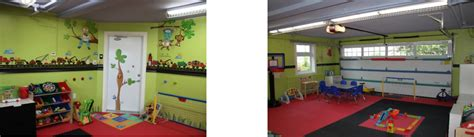 Garage Playroom by Garage Transformation Creating A Safe Enjoyable Playroom