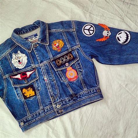 Patches Denim Size Sml vintage patched jean jacket vintage denim jacket with patches patchwork vintage jean jacket