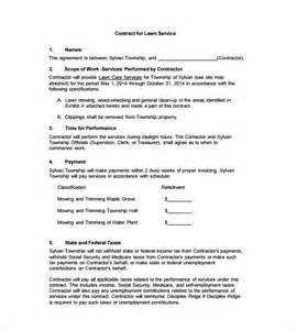 gardening contract template 9 lawn service contract templates free word pdf