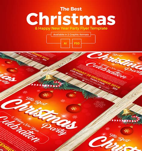 party title for christmas new year free happy new year flyer template