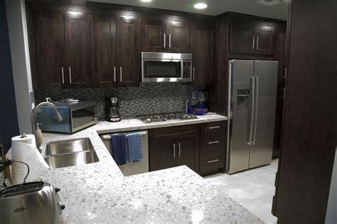 dark cabinets countertop backsplash cabinet handles 19 best images about kitchen backsplash with subway tiles