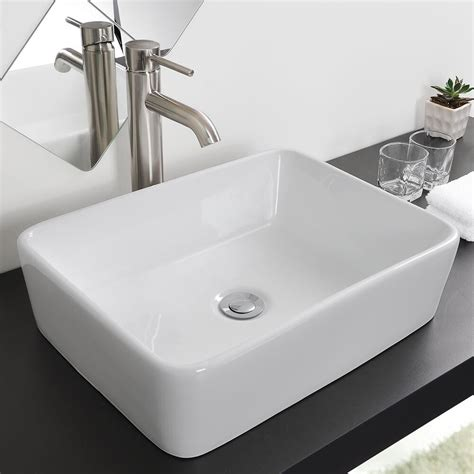 new ceramic bathroom sink porcelain vessel bowl with popup