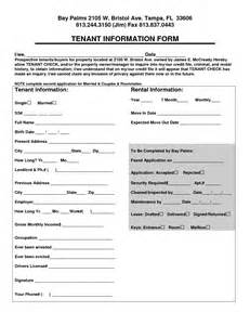Tenant Information Sheet Template by Best Photos Of Renter Information Form Tenant