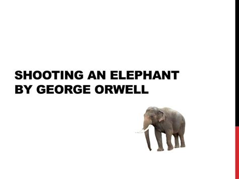 George Orwell Shooting An Elephant Essay by George Orwell Shooting An Elephant Imperialism Essay Writinggroup694 Web Fc2