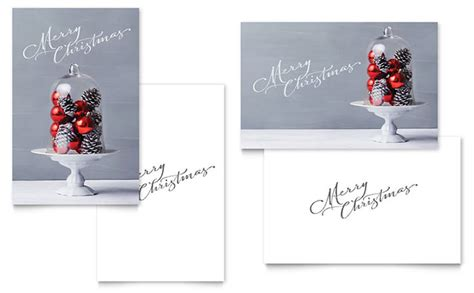 christmas display greeting card template word publisher