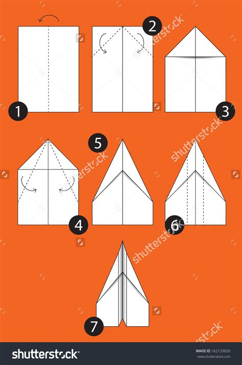 Step By Step To Make A Paper Airplane - origami origami paper airplanes ot paper
