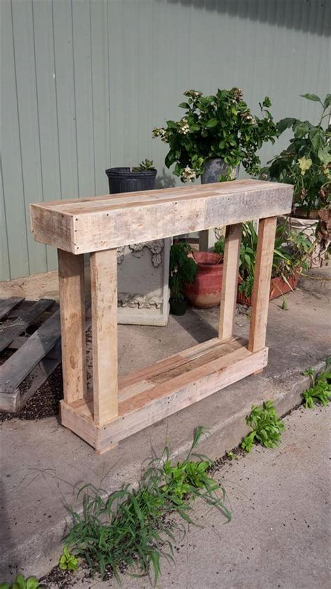 pallet sofa table recycled pallet entry or sofa table pallet furniture diy