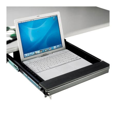Desk Stand Secure by Locking Laptop Security Drawer For Desk Mount 75mm H
