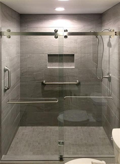 cr laurence frameless bypass sliding shower door system commercial construction  renovation