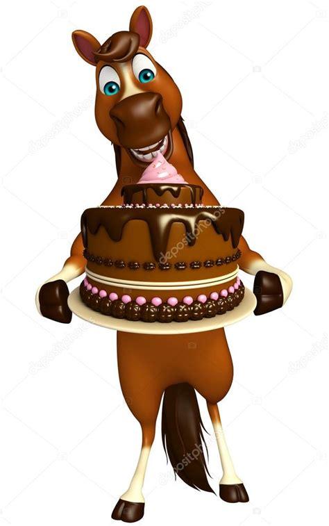 imagenes de feliz cumpleaños con caballos niedliche pferd cartoon figur mit kuchen stockfoto