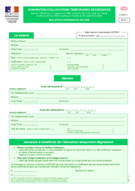 Cerfa Credit Impot Formation Dirigeant 2014 Cerfa N 176 12625 01 Convention D Allocations Temporaires D 233 Gressives Bulletin D Adh 233 Sion Du