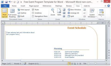 Download Programs Templates Events Free Contentbackup Event Program Schedule Template
