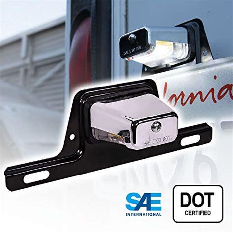 trailer license plate bracket with light license plate light
