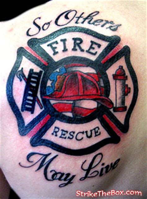 so others may live tattoo strike the box firefighter tattoos