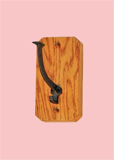 Amish Coat Rack by Amish Mission One Hook Coat Rack Oak Hardwood Delivery Included