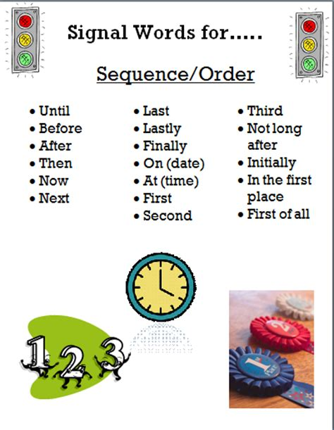 sequence pattern of organization signal words pcs 3rd grade licensed for non commercial use only