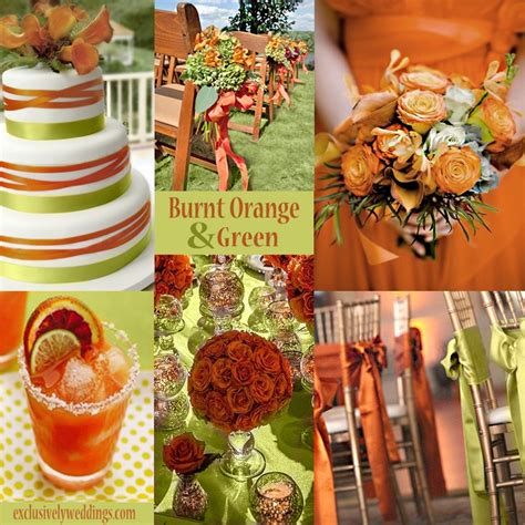 an orange color combination for your fall wedding orange drinks wedding and tones