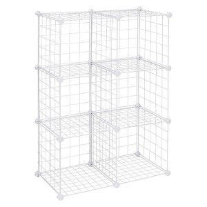 Closetmaid Wire 6 Cube Organizer White Closetmaid 6 Cube Wire Organizer White Playroom