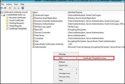 smart card logon certificate template active directory ortamlarında akıllı kart smart card logon