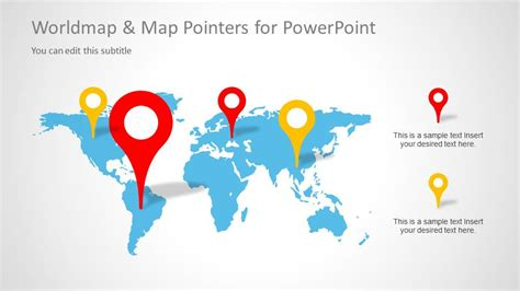 Worldmap Map Pointers For Powerpoint Slidemodel Worlds Best Powerpoint Presentation