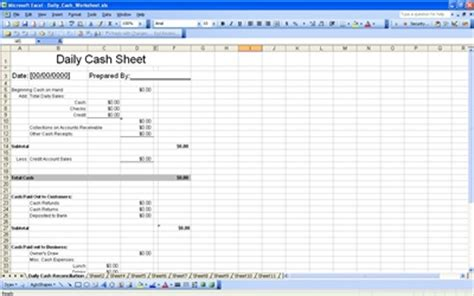 daily cash sheet cash sheet template free cash sheet