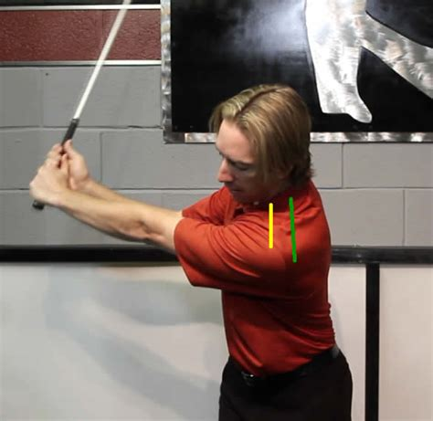 start golf swing with right shoulder the golf swing the left arm push during the backswing