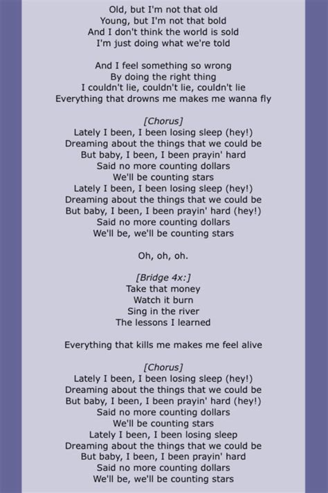 the song lyrics one republic quot counting quot page 2 song lyrics four