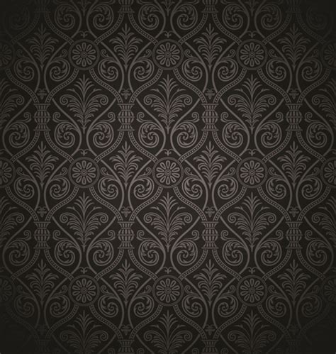 black pattern free download luxurious black damask patterns vector free vector in