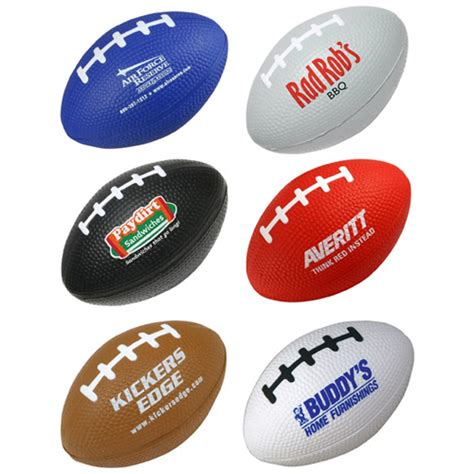 Stress Ball Giveaways - custom football frenzy items ideas promotional football event products logo