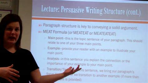 essay structure youtube persuasive essay structure lecture youtube