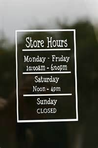 store hours shop hours business hours store sign open